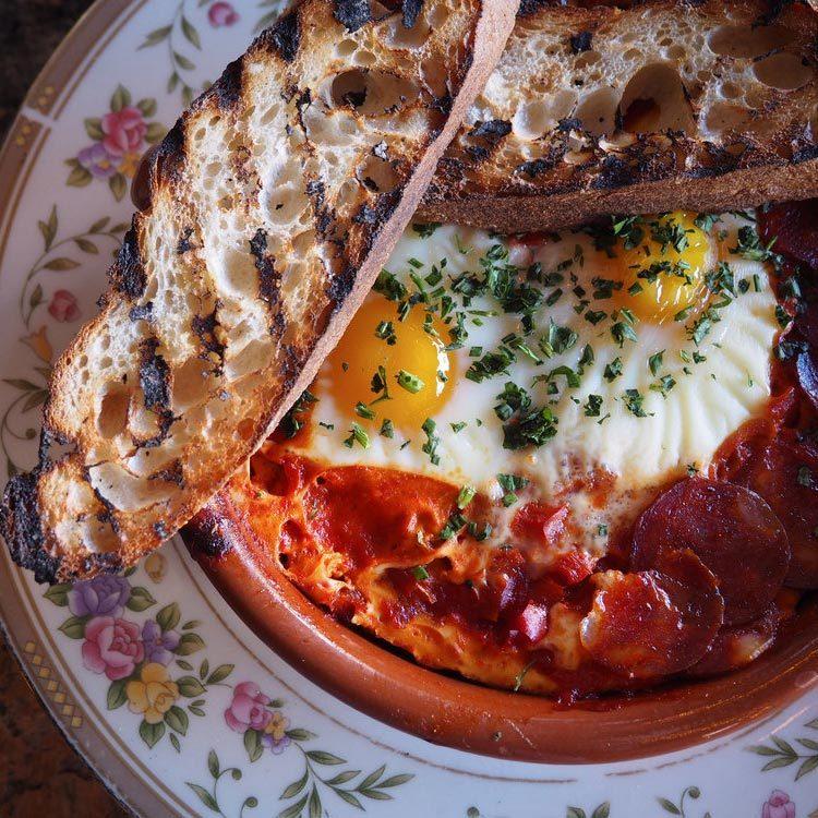 close up brunch dish at le bouillon omaha