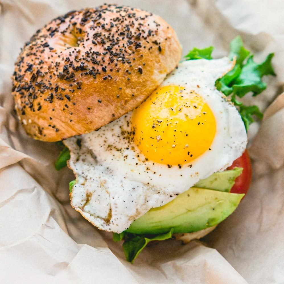 bagel egg avocado from Native coffee and kitchen in rye new hampshire