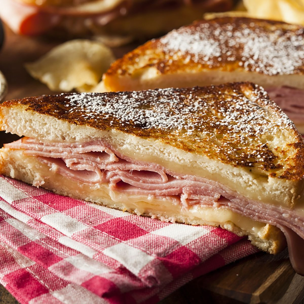 Homemade Monte Cristo Sandwich with Ham and Cheese