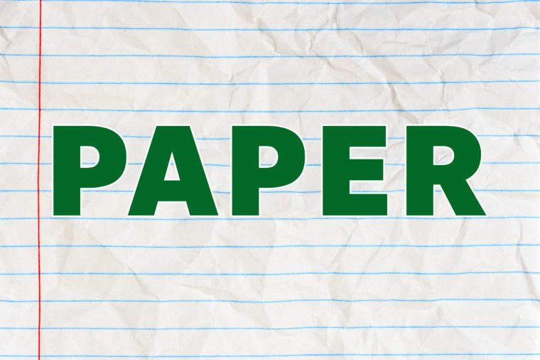 most recyclable materials paper