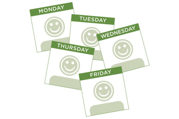 smiley face calendar pages