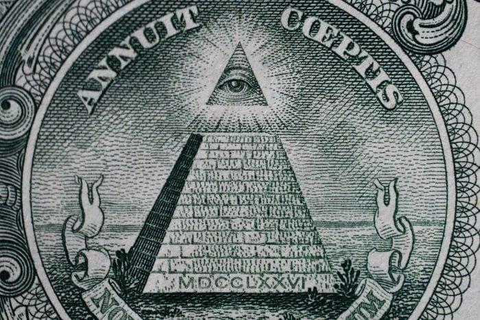 Pyramid Dollar Bill Symbol