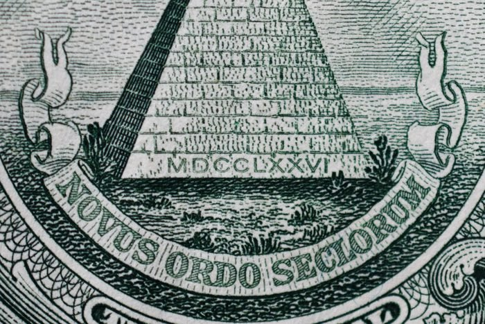 Pyramid Letters Dollar Bill