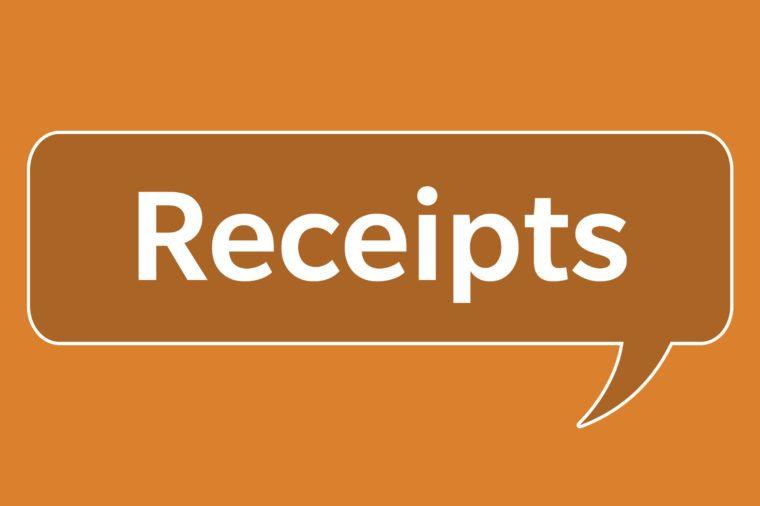 slang words receipts