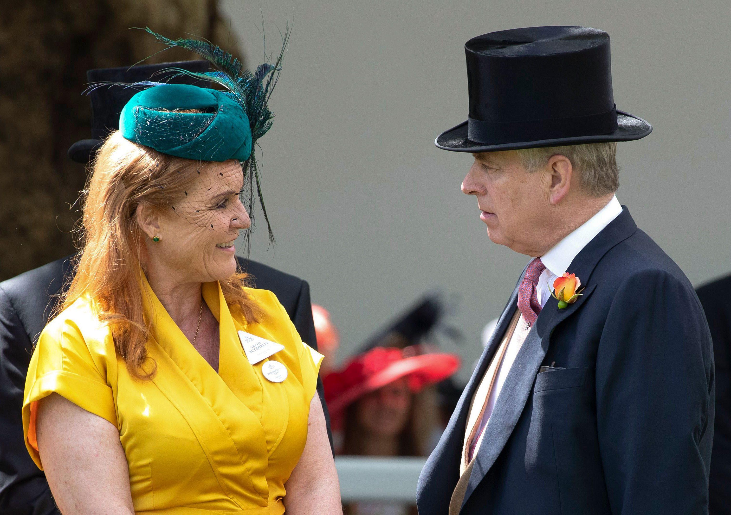 Mandatory Credit: Photo by Shutterstock (10318541i) Sarah Ferguson Duchess of York and Prince Andrew Royal Ascot, Day 4, UK - 21 Jun 2019