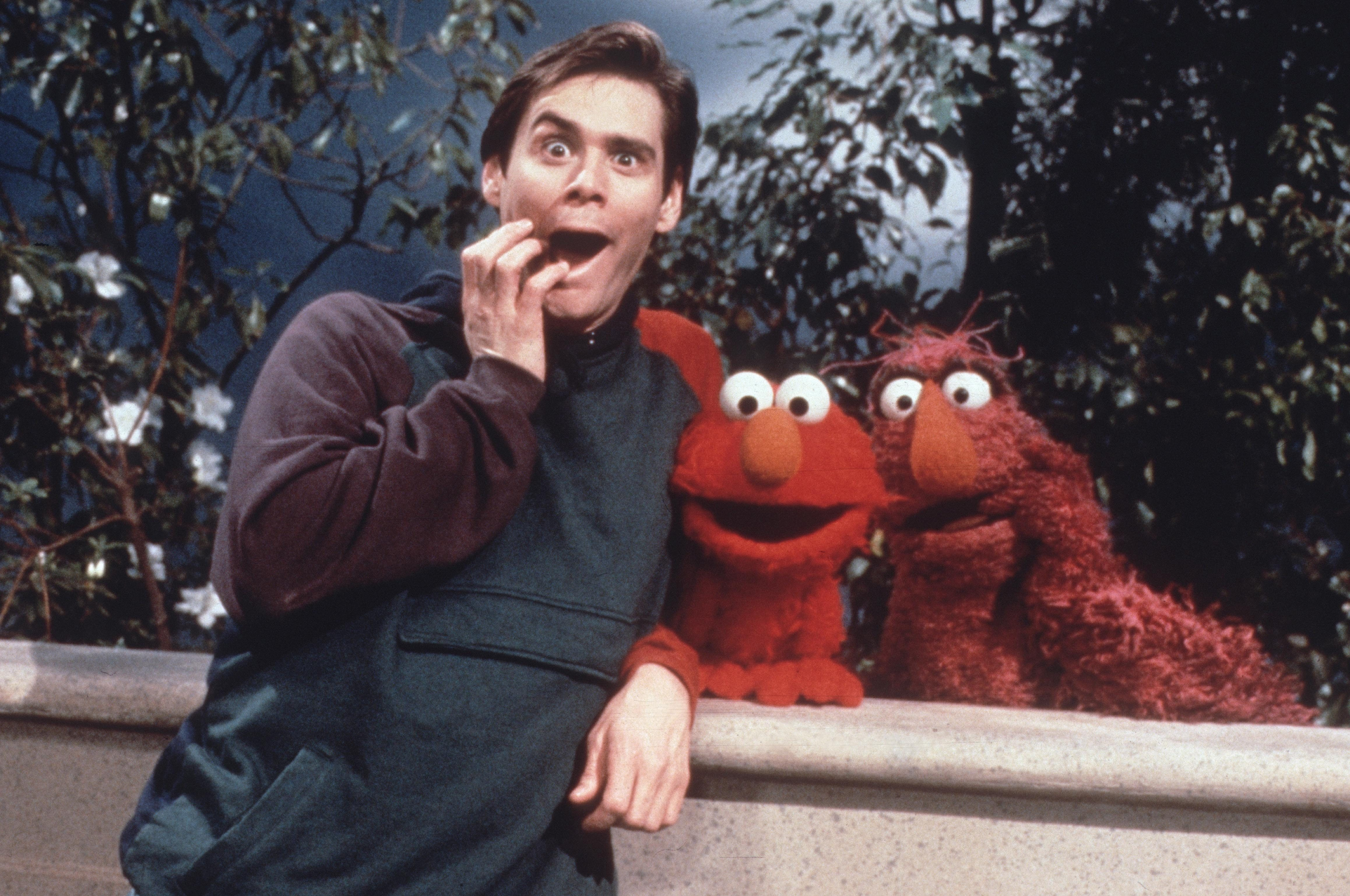 Editorial use only. No book cover usage. Mandatory Credit: Photo by Ctw/Jim Henson Prod/Kobal/Shutterstock (5884856t) Jim Carrey Sesame Street - 1969- Ctw/Jim Henson Prod USA Television