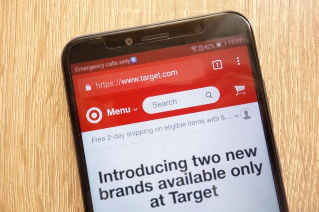 target on mobile phone