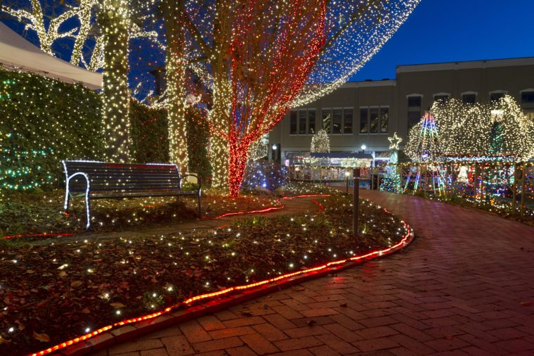 The Lights of the Ozarks in downtown Fayetteville, Arkansas