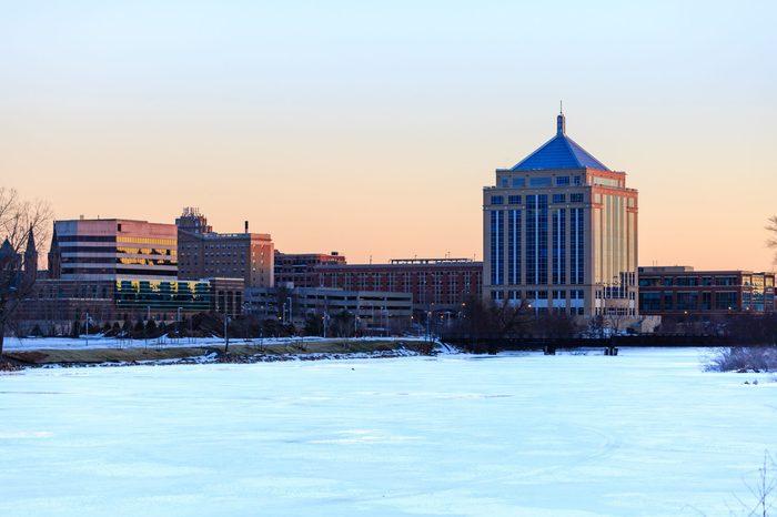 Downtown Wausau, Wisconsin in winter