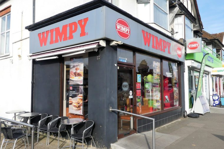 wimpy burgers UK fast food