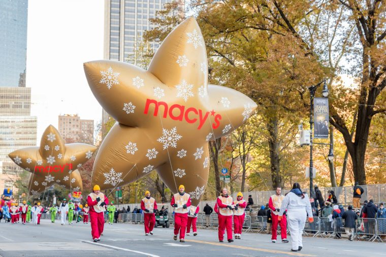macy's parade thanksgiving balloons stars float
