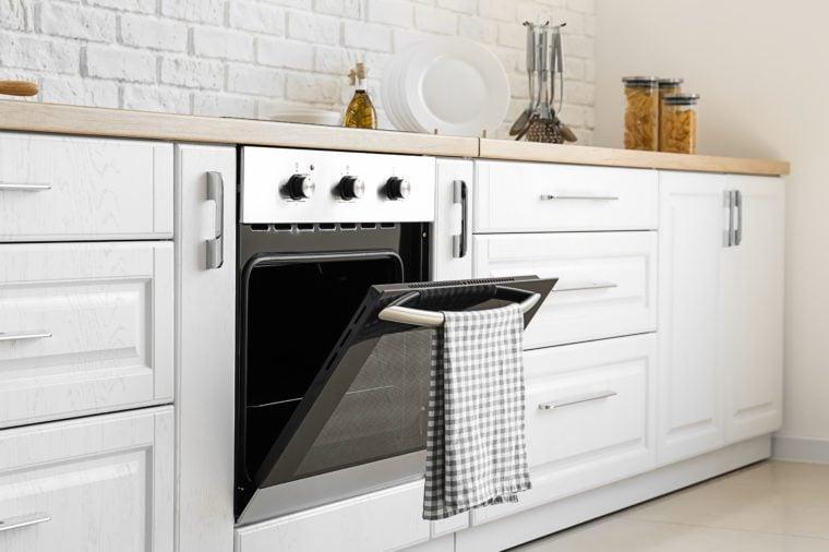 Modern oven in stylish kitchen