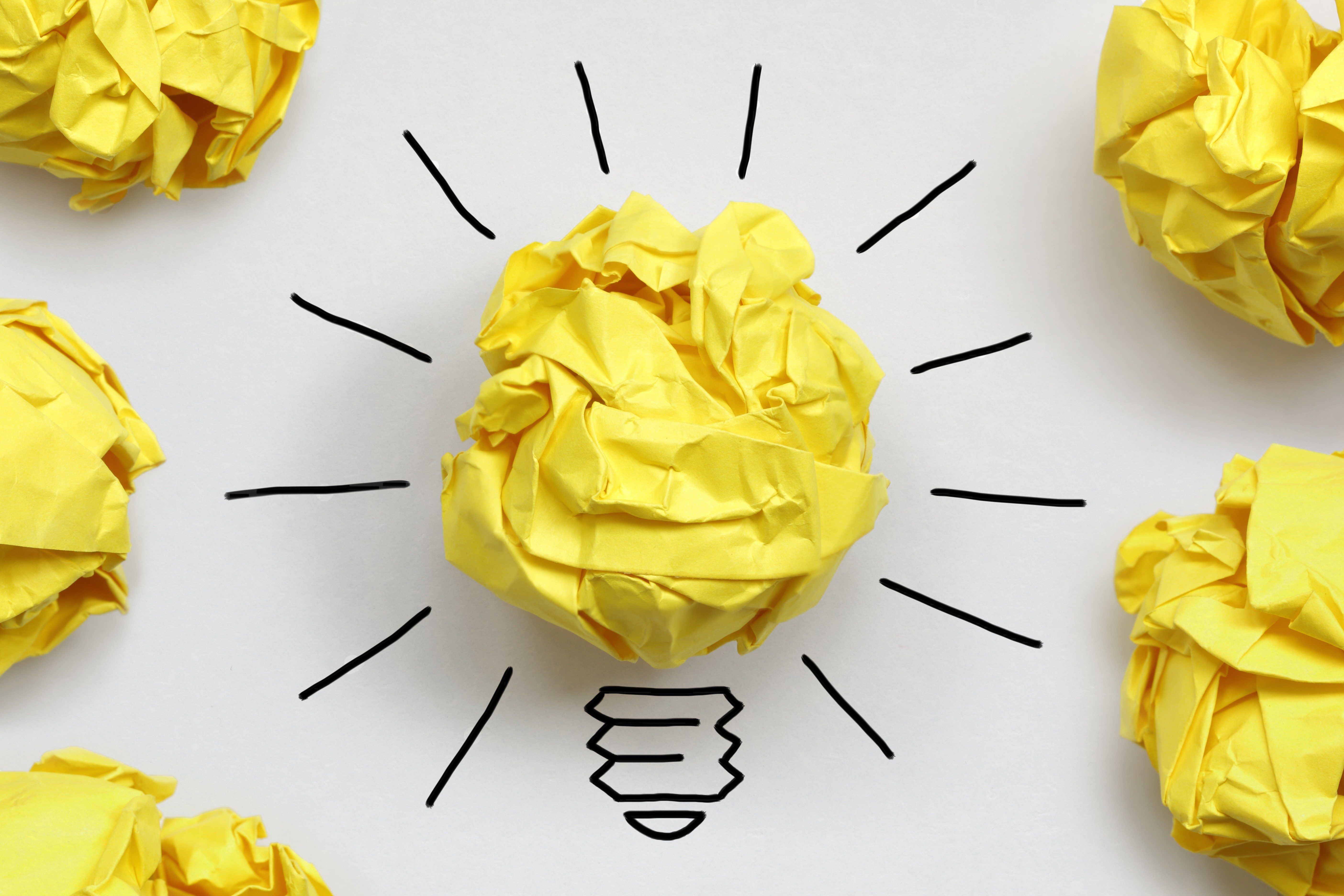 Inspiration concept crumpled paper light bulb metaphor for good idea; Shutterstock ID 146379659; Job (TFH, TOH, RD, BNB, CWM, CM): RD