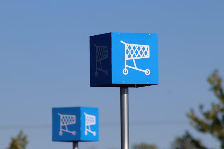 walmart shopping cart area