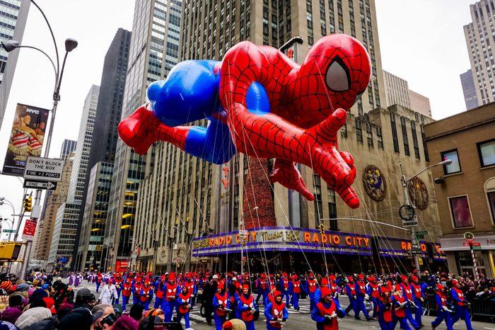 macy's thanksgiving parade float spiderman balloon