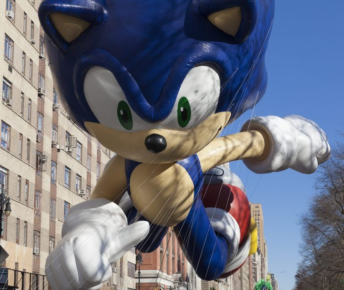 Sonic the Hedgehog balloon Macy's parade thanksgiving