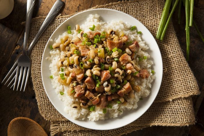 Homemade Southern Hoppin John with Rice and Pork