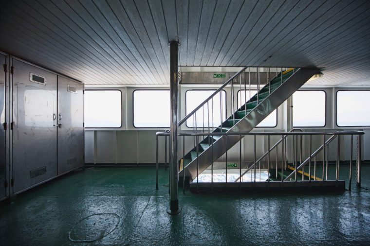 Ferryboat corridor and stairs