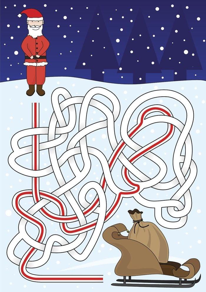 Santa maze answer illustration