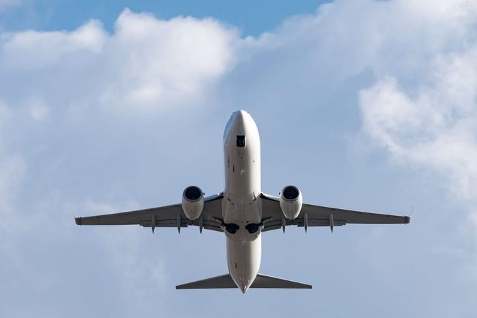 plane flying overhead