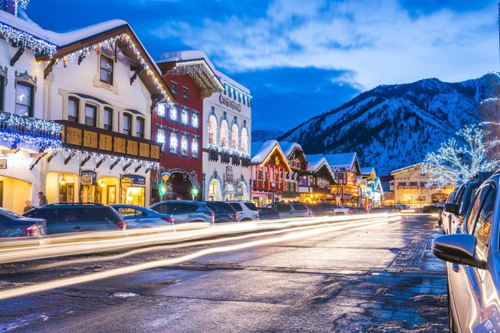leavenworth,Washington,usa.-02/14/16: beautiful leavenworth with lighting decoration in winter.
