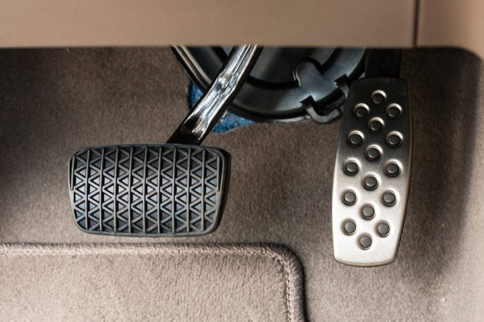 Foot pedals are levers that are activated by the driver's feet to control certain aspects of the vehicle's operation brake pedal/Car accelerator pedal and brake pedal/Car controls