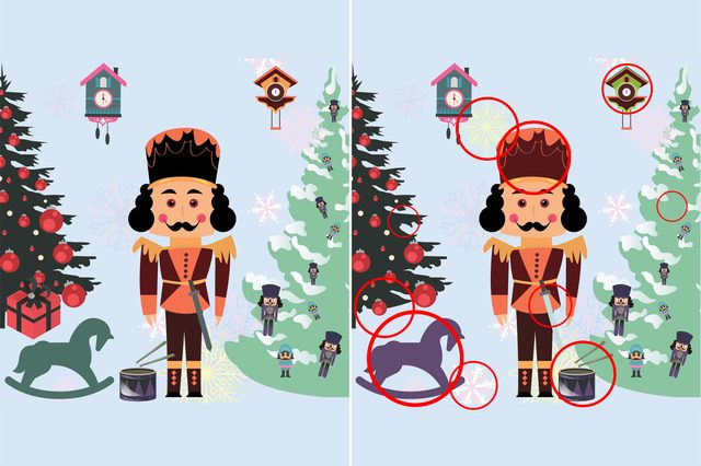 spot the differences nutcracker chirstmas scene answer