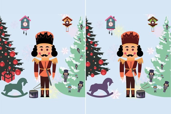 spot the differences nutcracker chirstmas scene question