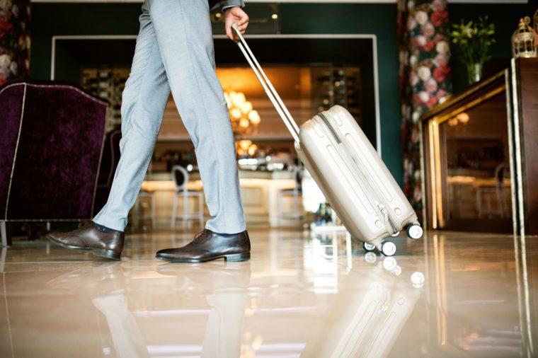 leaving hotel