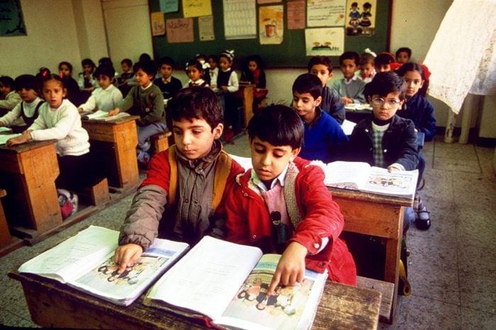 Iraq school classroom