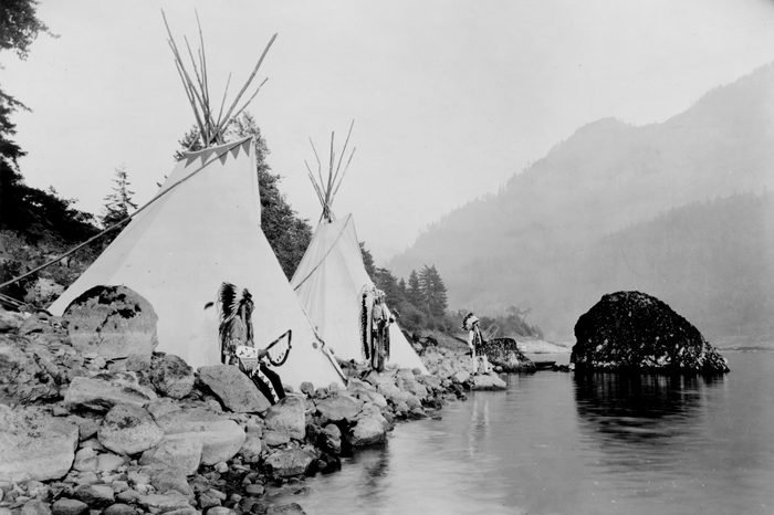 native american tents