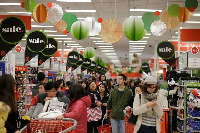 target holiday shopping sales