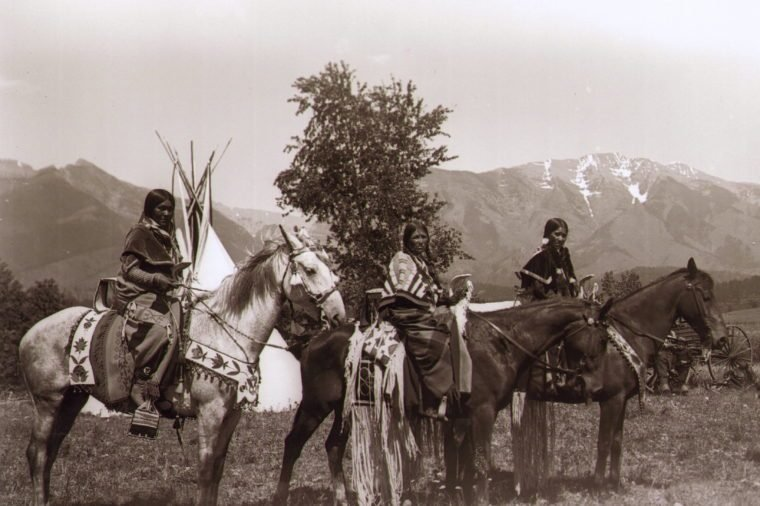 native american women on horses
