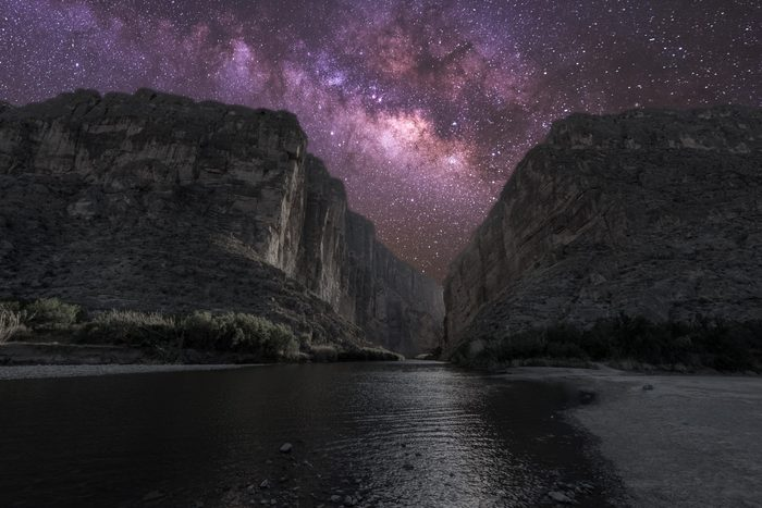 Santa Elena Canyon under the Milky Way - Big Bend National Park
