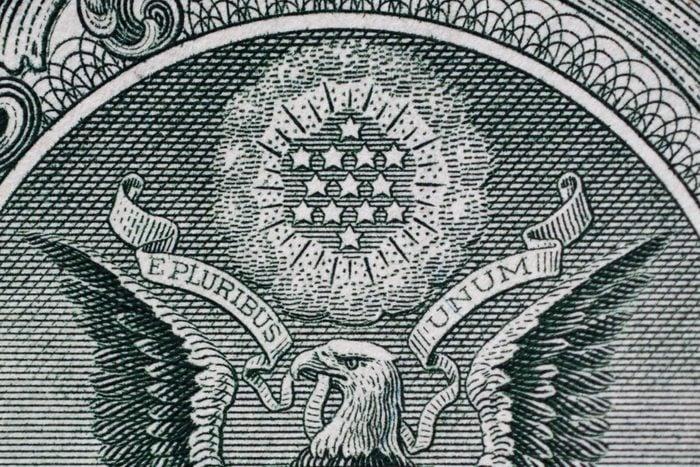 Stars Above Eagle Dollar Bill
