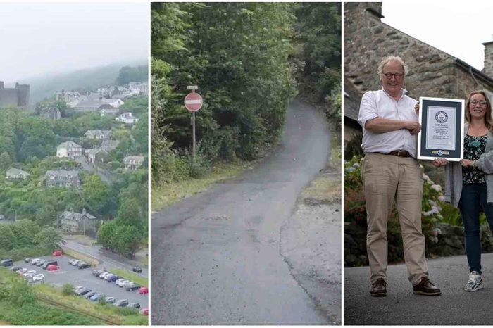 steepest street world record