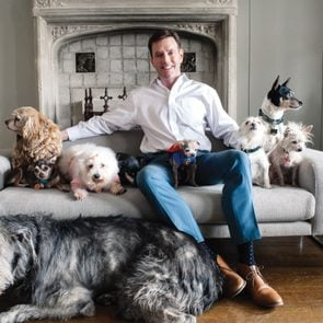 steve greig and dogs portrait