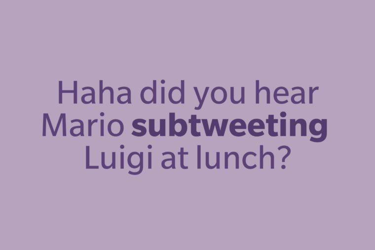slang words subtweet