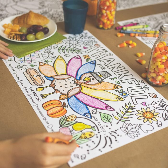 Thanksgiving Coloring Place Mats