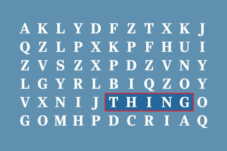 "overused words ""thing"""
