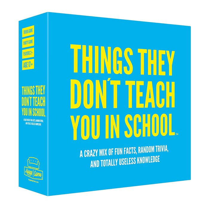 Things They Don't Teach You In School Trivia Game