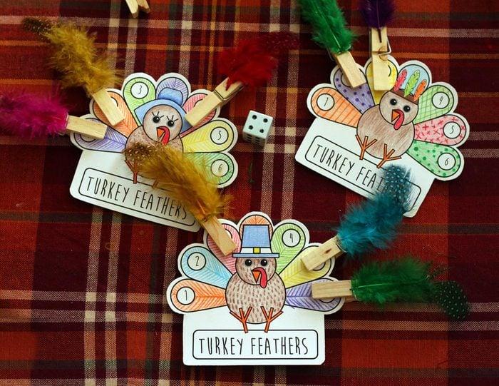 Turkey Feather Game