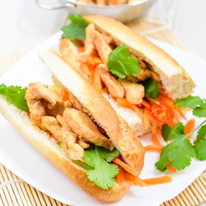 Grilled Vietnamese Chicken Sandwiches (bánh mì)