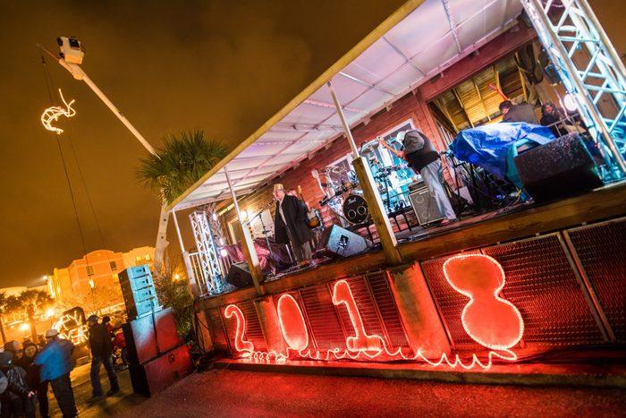 shrimp drop florida NYE family friendly New Year's