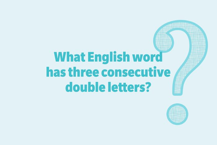 What English word has three consecutive double letters?