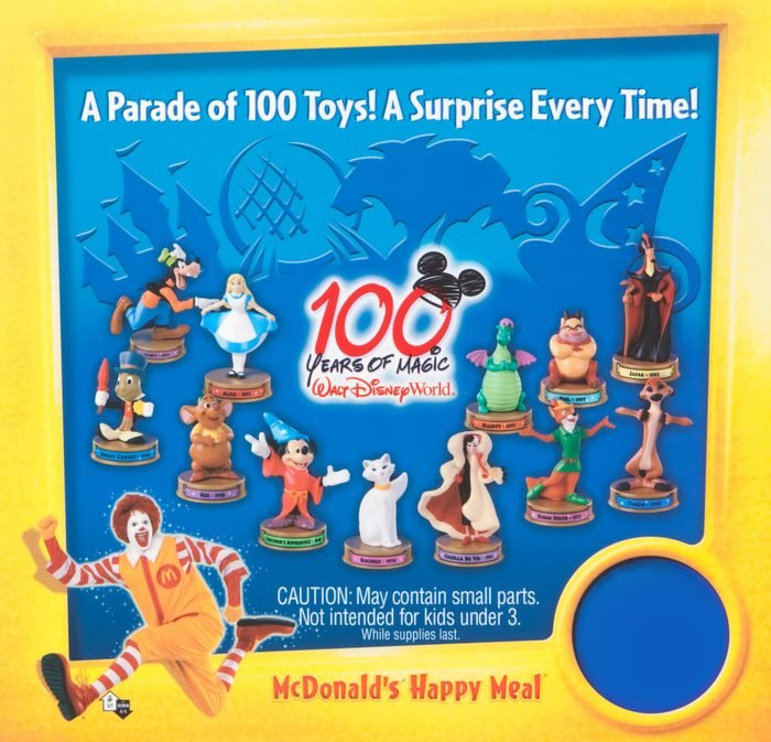 100 years of magic happy meal toy