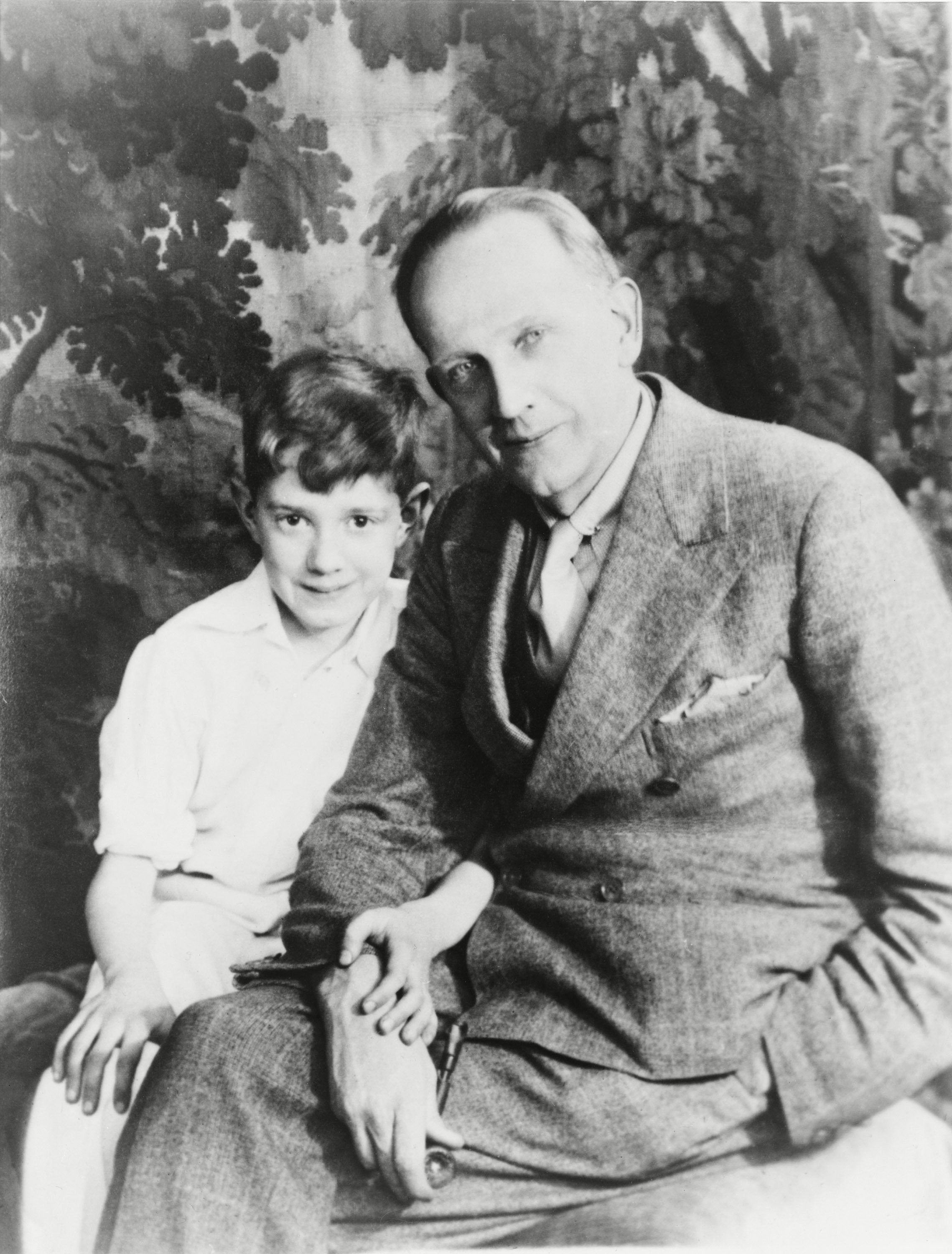 Mandatory Credit: Photo by Everett/Shutterstock (10275004a) A.A. Milne (1882-1956), the author of Winny the Pooh with his son, Christopher Robin (b.1920), on whom he based the character of the same name. Historical Collection