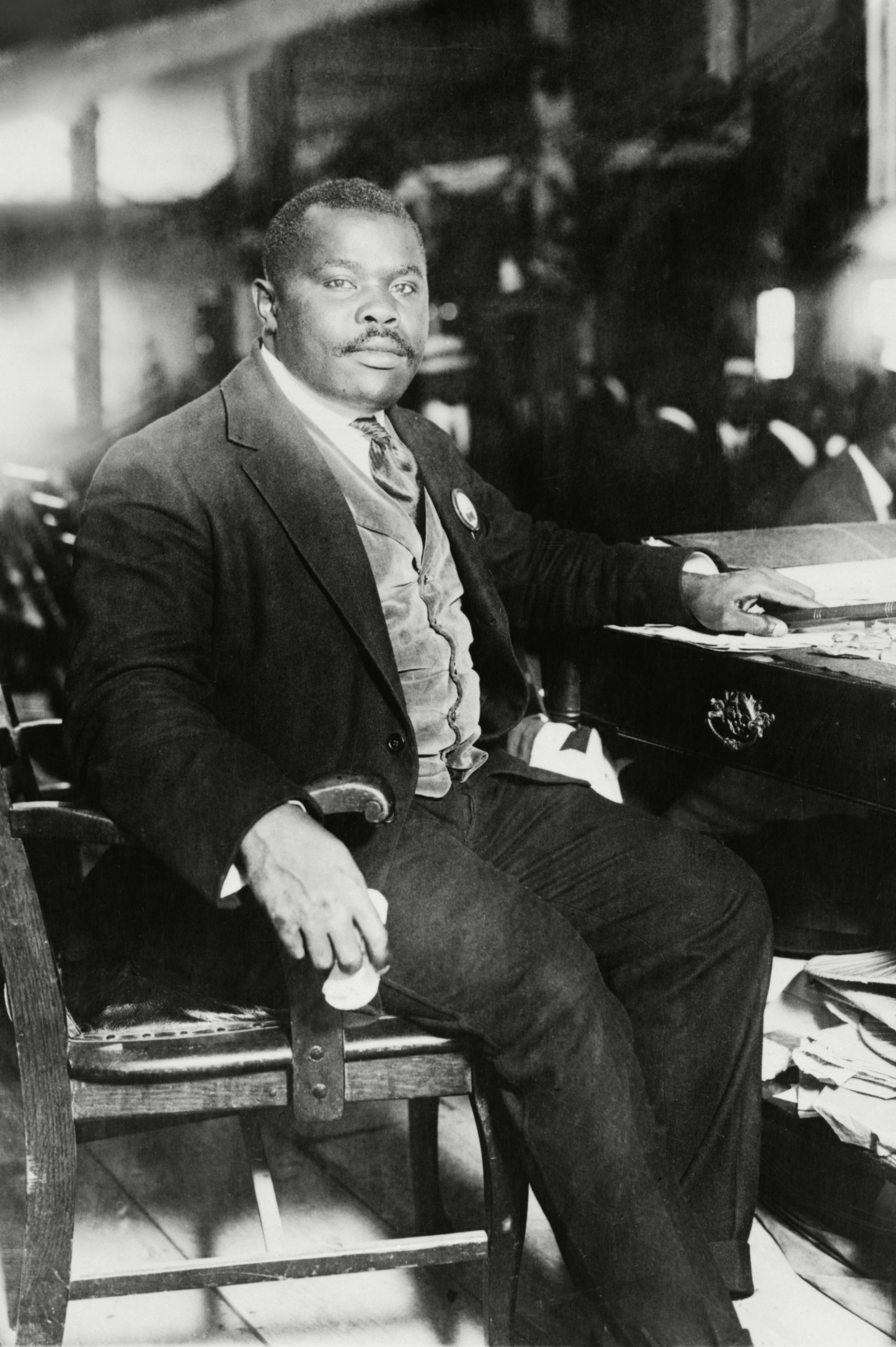 Mandatory Credit: Photo by Everett/Shutterstock (10275215a) Marcus Garvey (1887-1940), founded the African American nationalist organization, Universal Negro Improvement Association (UNIA) in 1914. His movement was successful until government investigators charged him with mail fraud, resulting in his imprisonment and deportation. Ca. 1920. Historical Collection