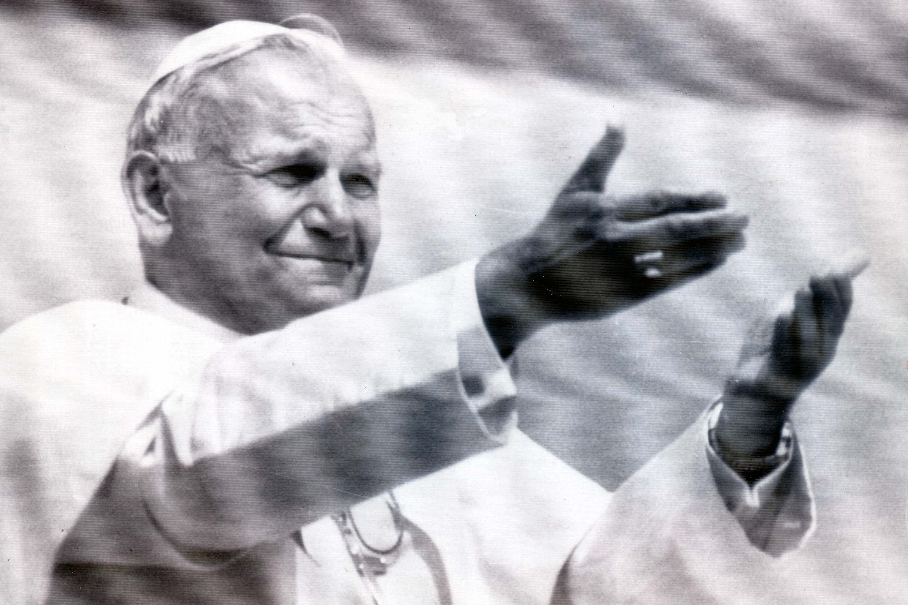 Mandatory Credit: Photo by Monty Fresco/Daily Mail/Shutterstock (1033675a) Pope John Paul Ii 1979 Pope John Paul Ii (dead April 2005) Blesses The Crowd During Pontificial Mass At Special Altar In Blonie District. ...popes Pope John Paul Ii 1979 Pope John Paul Ii (dead April 2005) Blesses The Crowd During Pontificial Mass At Special Altar In Blonie District. ...popes