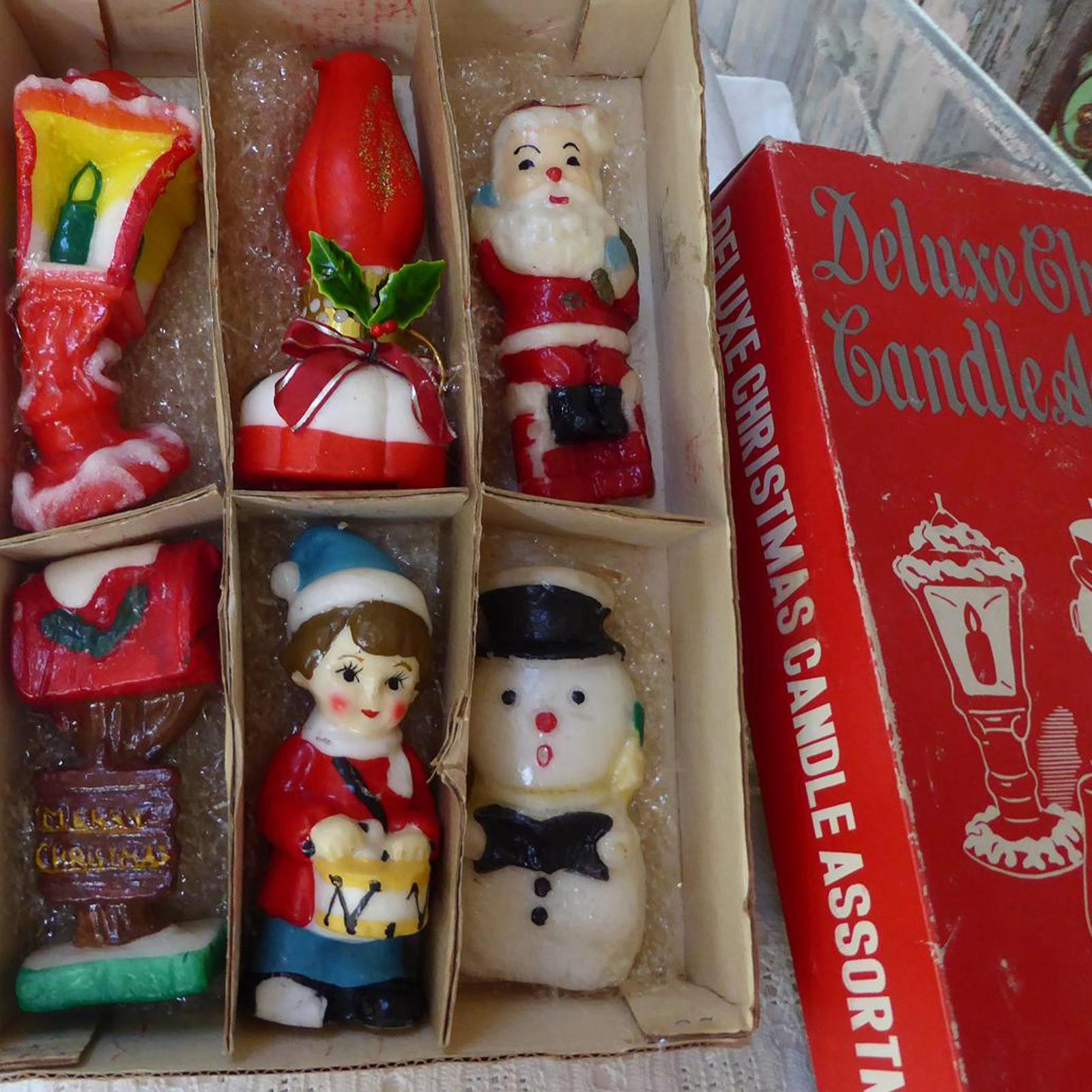 Christmas figure candles